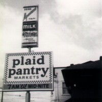 Straight from the Garrett Sign archives. A freestanding Plaid Pantry sign.