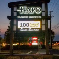 HAPO Community Credit Union Freestanding Sign
